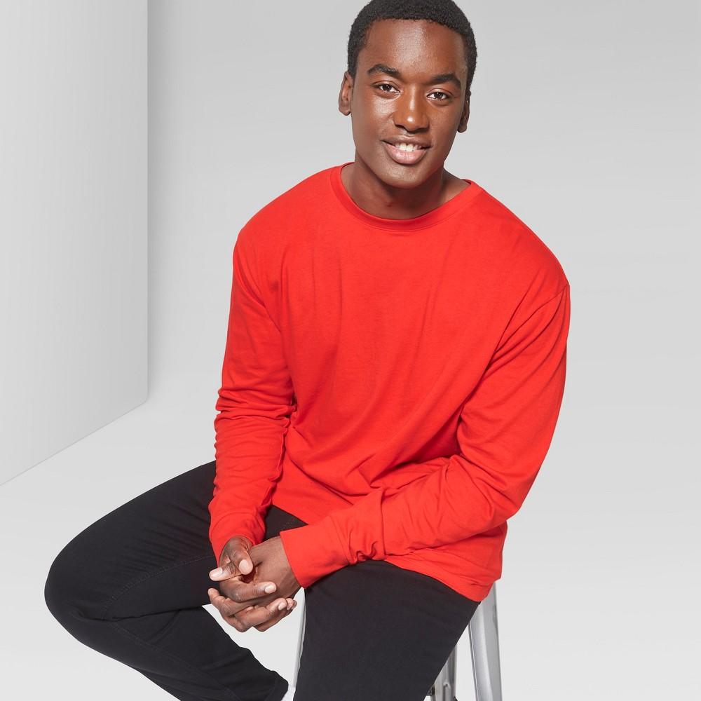 Men's Tall Long Sleeve Boxy T-Shirt - Original Use Red LT