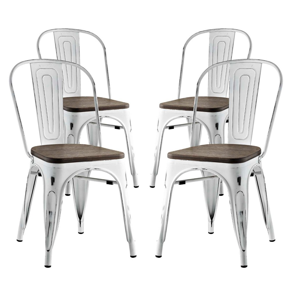 Promenade Dining Side Chair Set of 4 White - Modway
