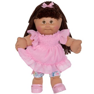 Cabbage Patch Kids Vintage Brown Eyes Baby Doll - Pink Dress