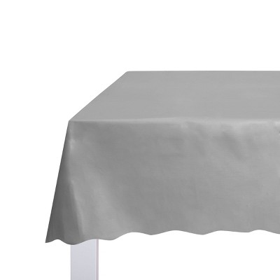 """54"""" x 108"""" Solid Table Cover Silver - Spritz™"""
