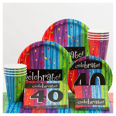 40th Birthday Party Supplies Collection Target