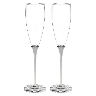 Vintage Pearl Wedding Collection Champagne Flutes