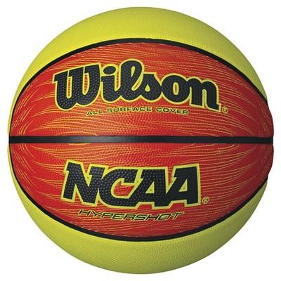 Wilson NCAA Hypershot 29.5  Basketball - Lime/Orange