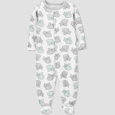 Baby Elephant Thermal Sleep N' Play - Just One You® made by carter's White 9M
