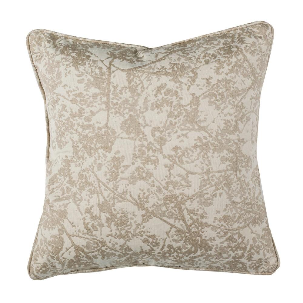 Simona Square Throw Pillow Natural Safavieh