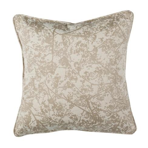 Simona Square Throw Pillow Natural - Safavieh - image 1 of 3