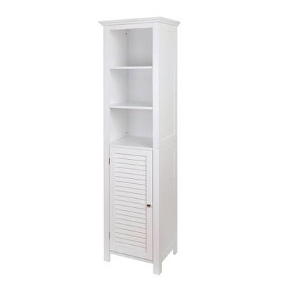 Floor Storage Cabinet with 1 Door White - Glitzhome