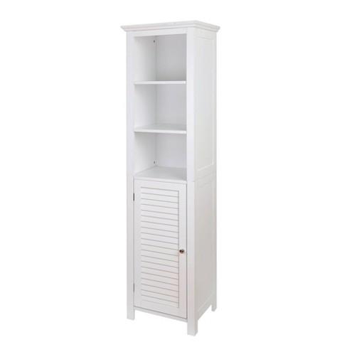 Floor Storage Cabinet With 1 Door White