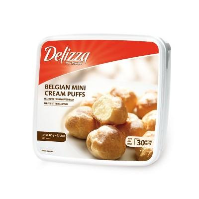 Delizza Belgian Frozen Mini Cream Puffs - 30pk/13.2oz