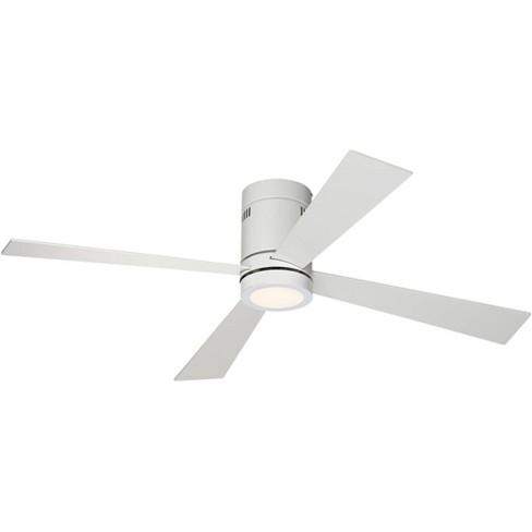 52 Casa Vieja Modern Hugger Ceiling Fan With Light Led Flush Mount Remote Control Opal White For Living Room Kitchen Bedroom Target