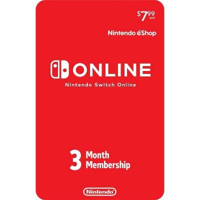 Nintendo Switch Online 3-Month Individual Membership (Digital)
