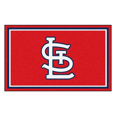 MLB St. Louis Cardinals 4'x6' Plush Area Rug - Red