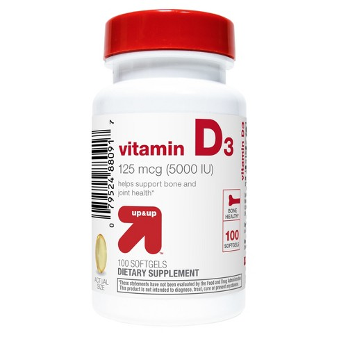 Vitamin D3 Softgels - 100ct - Up&Up™ - image 1 of 2