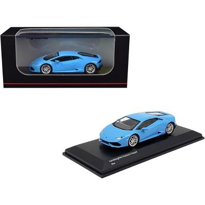 Lamborghini Huracan Coupe Light Blue 1/64 Diecast Model Car by Kyosho