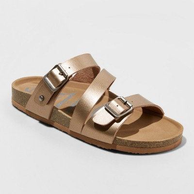 Women's Mad Love Bryanne Multi Strap Footbed Sandals - Rose Gold 9