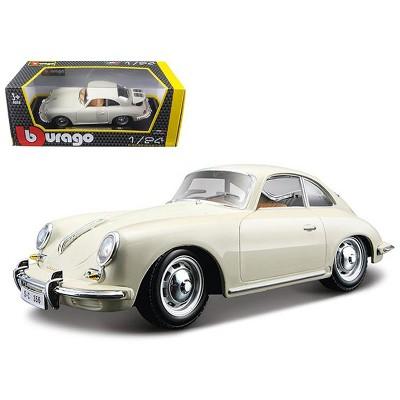 1961 Porsche 356 B Coupe Ivory White 1/24 Diecast Model Car by Bburago
