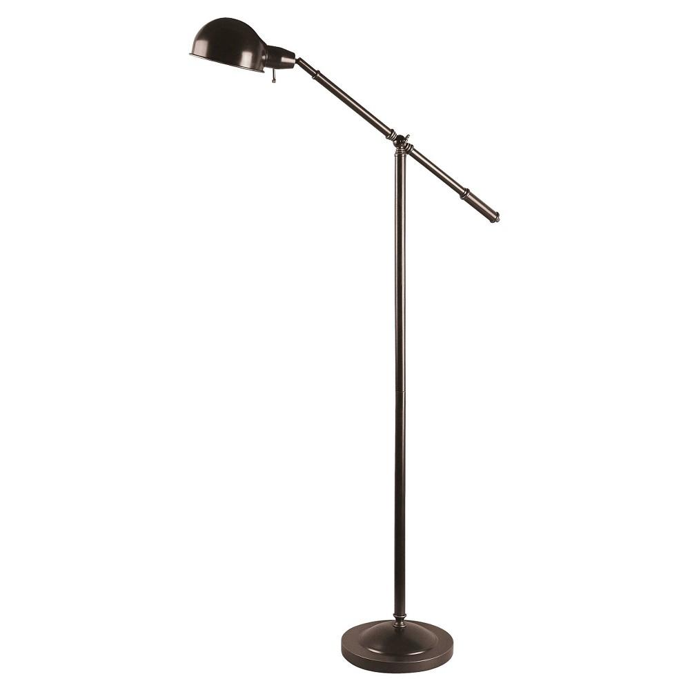 Lite Source Jensen 1-LT Floor Lamp - Dark Bronze (Lamp Only), Brown