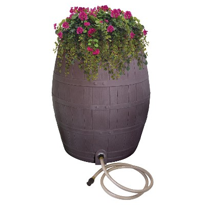 Emsco Rainwater Collection System Whiskey Barrel 50 gallon