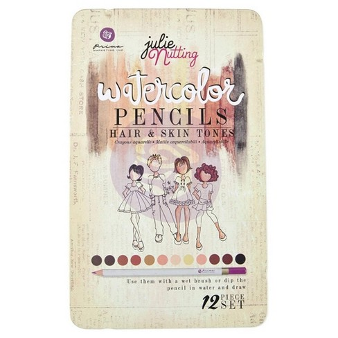 "12ct Prima Mixed Media Watercolor Pencils-Hair & Skin Tones 7.5""x4.5"" - image 1 of 1"