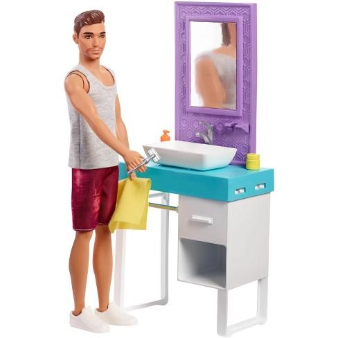 Barbie Ken Doll & Bathroom Playset - image 1 of 14