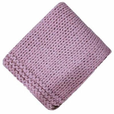 Chunky Knit Throw Blush - Threshold™