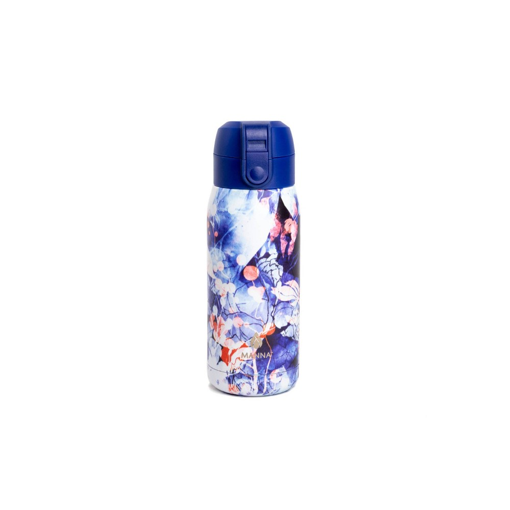 Image of Manna 10oz Stainless Steel Floral Travel Mug