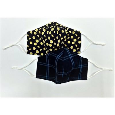 2pk Men's Fabric Face Masks - Goodfellow & Co™ Blue