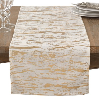 Bright Gold Splatter Table Runner - Saro Lifestyle