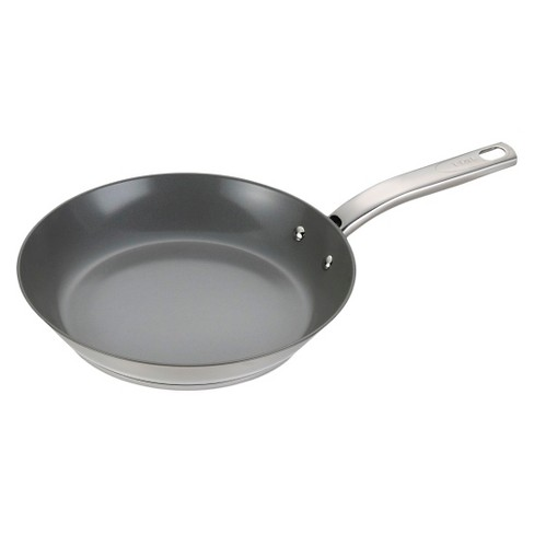 T-fal Precision Ceramic Stainless Steel C71807 PTFE-free PFOA-free Dishwasher Safe Cookware 12 Fry Pan Silver - image 1 of 2