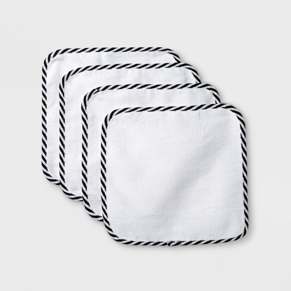 Image of Baby 4pk Washcloth Set - Cloud Island White