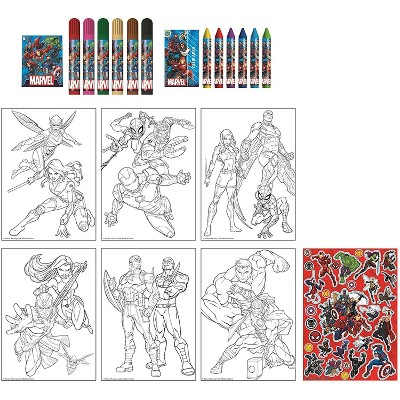 Innovative Designs Marvel Activity Egg Craft Kit | Coloring Pages | Stickers | Markers | Crayons