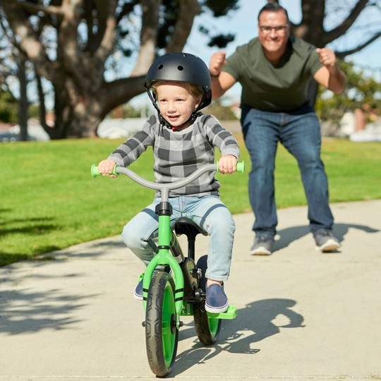 """Little Tikes My First Balance 2 Pedal 16"""" Balance Bike - Green image number null"""