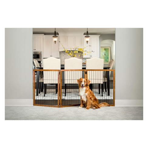Carlson 3 Panel Freestanding Extra Tall Wood Cat And Dog Gate With