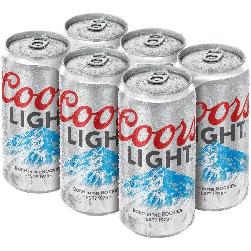 Coors Light Beer - 6pk/12 fl oz Cans - image 1 of 3