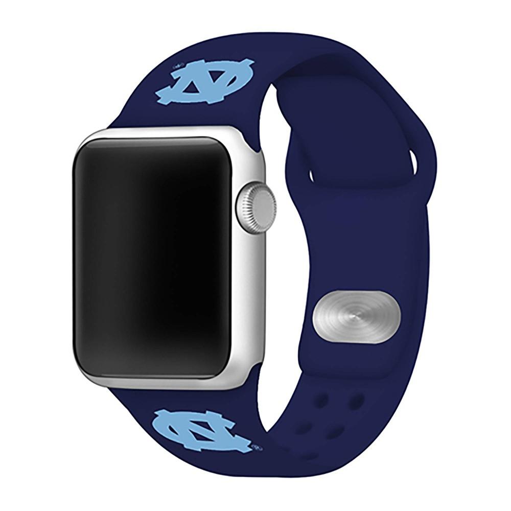 Ncaa North Carolina Tar Heels Silicone Apple Watch Band 42mm