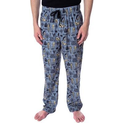 Lord of the Rings Men's Allover Pattern Adult Sleepwear Pajama Pants