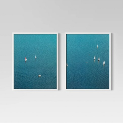 """(Set of 2) 16"""" x 20"""" Sail Boats Framed Print - Project 62™ - image 1 of 4"""