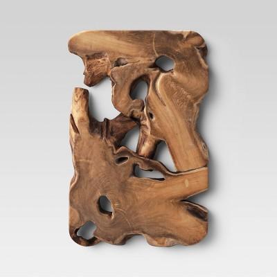 Rectangular Wood Wall Sign Panel Brown - Threshold™
