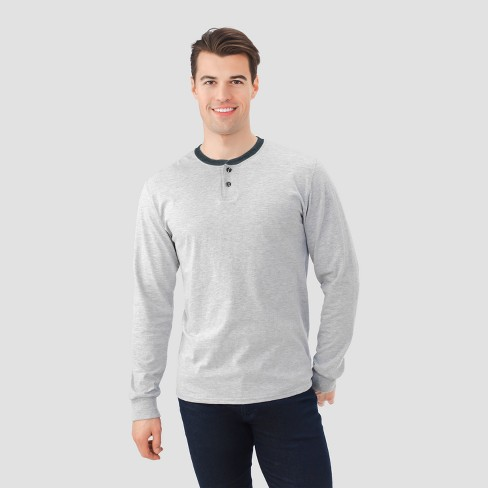 aa82013c2 Fruit Of The Loom® Men's Long Sleeve Henley T-Shirt : Target