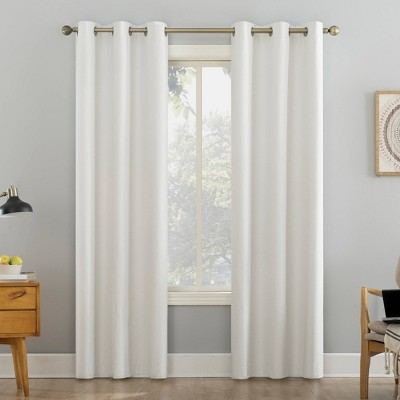Liam Heathered Striped Thermal Extreme 100% Blackout Grommet Curtain Panel - Sun Zero