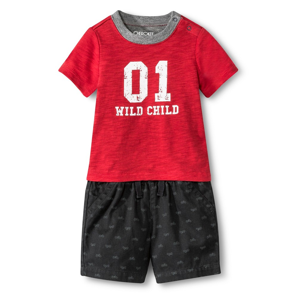 Image of Baby Boys' Top and Bottom Radiant Gray NB, Boy's