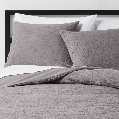Full/Queen Micro Texture Duvet Cover & Sham Set Gray - Project 62™ + Nate Berkus™