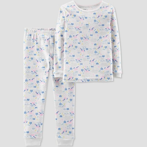 58579413f6c7 Baby Girls  2pc Unicorn Pajama Set - Little Planet By Carter s White ...