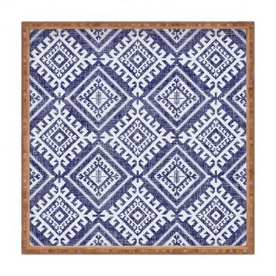 Holli Zollinger Shakami Denim Square Bamboo Tray - Deny Designs