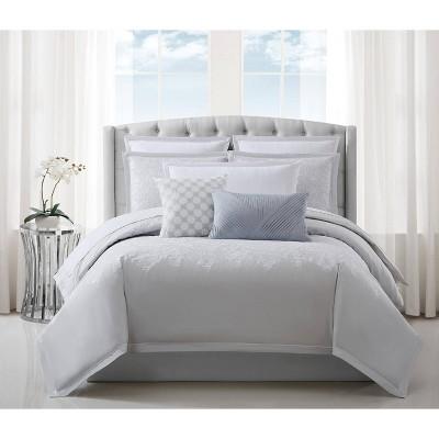 Charisma Celini King Comforter Set Gray/White