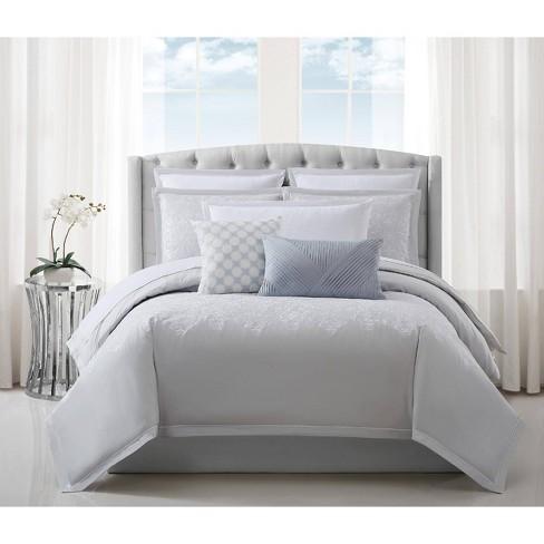Charisma Celini King Comforter Set Gray/White : Target