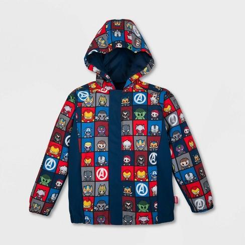 Boys' Marvel Rain Jacket - Blue - Disney Store - image 1 of 4