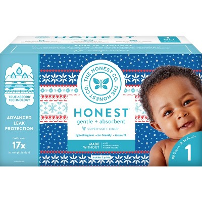Honest Company Disposable Diapers Club Box - Size 1 (80ct)