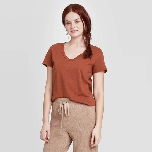 Women's Short Sleeve V-Neck T-Shirt - Universal Thread™ - image 1 of 3