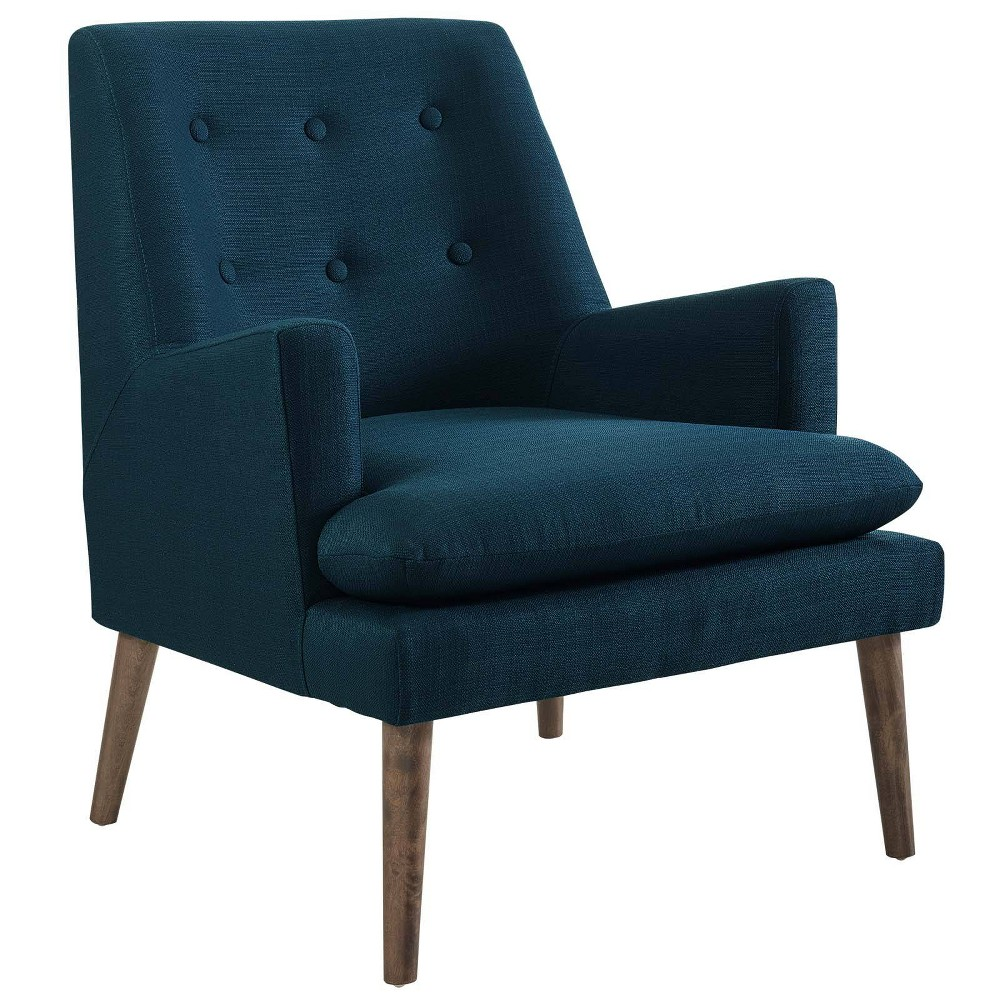 Leisure Upholstered Lounge Chair Azure (Blue) - Modway